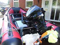 Avon 390 Sea Search inflatable Boat . 15 hp Mercury 4 Stroke.