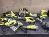 Joblot of ryobi tools