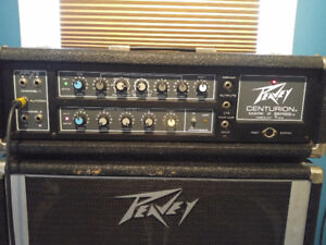 1978 peavey centurion bass amp with 1810 cabinet.