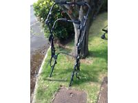 Bicycle rack suitable for most hatchbacks for 2 bikes