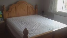Super King Size Pine Bed with Sealy Mattress