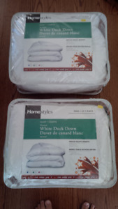 Twin Natural White Duck Down Duvets