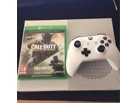Xbox one S 1tb for sale, basically brand new only played twice, with all cables and COD 4 remastered