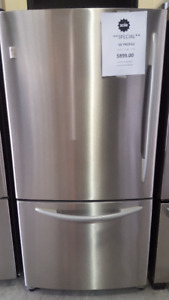 "FRIDGE 32"" GE PROFILE FRIDGE STAINLESS STEEL FRIDGE"