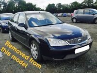 FORD MONDEO MK3 1.8 PETROL BLACK BREAKING FOR ALL PARTS