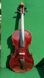 Unusual antique full size violin