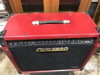 Old Carlsbro 80w red amp - Well used but still working well (needs tidied)