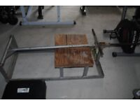 Standard Plate Loaded T - Bar Row Machine - Weights Gym