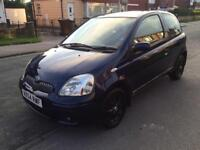 Toyota Yaris blue 1.3 3 doors petrol full 12 month mot drives faultless