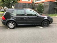VW GOLF 1.9 tdi, black, 4 door, 11.months.MOT, FSH