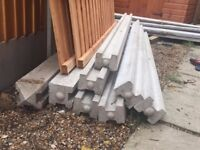 """7ft 9"""" Concrete Posts (for 6ft fence)"""