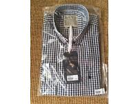 Brand New With Tags Navy Blue Jack Wills Checked Shirt Medium