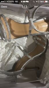 New Aldo Silver Shoes-Size 6.5