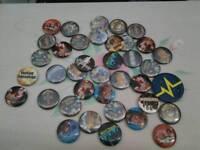 Job lot rock groups badges cool