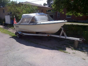 50HP Outboard motor, Boat and trailer