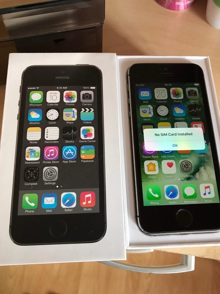 iPhone 5S 16GB Unlocked Boxedin West End, LondonGumtree - Apple iPhone 5S 16GB Factory Unlocked Space GreyIn Good Used Condition & Working OrderIncludes Box, Charger, USB Cable & CaseOnly Selling As Ive UpgradedGenuine Sale Collect West End or HillingdonFixed Price No Offers £110