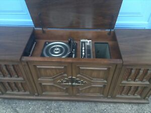 Rare! Vintage Record Player/Eight Track Stereo Cabinet!