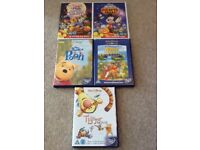 Winnie the Pooh and Mickey Mouse DVDs