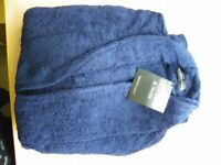 New Towelling Navy Blue Full Length Dressing Gown XXL - Unisex