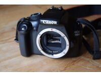 Canon EOS 1100D Digital SLR Camera (body only) with charger and bag