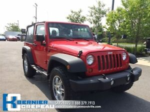 2012 Jeep Wrangler Sport **4X4+MAGS+ AUX + WOW!!