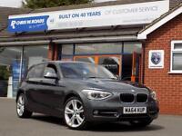 BMW 1 SERIES 2.0 116D SPORT 5dr Sat Nav & M Sport Alloys **Upg (grey) 2014