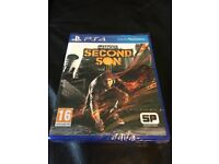 The Infamous Second Son - PS4 game. BRAND NEW - still in cellophane. £10