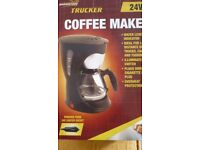 Coffee Maker - Brand New - 24 Volt Supply for perhaps a Lorry Driver, or boat owner?