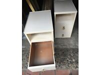 Two bed side cabinets! old style to them.