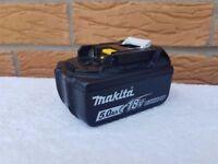 MAKITA 18v LXT LI-ION BL1850 (5AH) battery,(USED) ,dewalt bosch hitachi