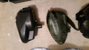 Paintball gear hoppers markers barrels and more