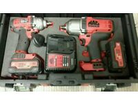 MAC Tools 18v Impact Driver Set 1/2 and 3/8 5ah batteries. As new. Not Snap-On