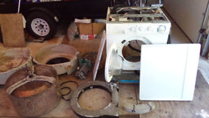 Frigidaire GLTF1670AS0 Front Load Washing Machine for parts