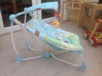 Fisher Price bouncer - also plays music and/or vibrates