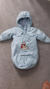 0-9 months winter bunting suit