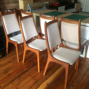 Midcentury Modern Dining Chairs Set