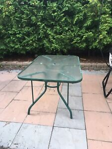 Patio table plus 3 chairs