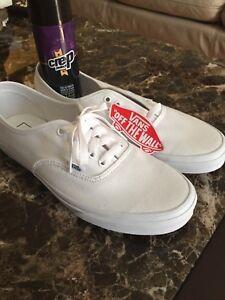 **BRAND NEW, NEVER WORN** White Vans Shoes , Skateboard