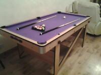 6f x 3f pool table