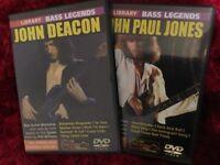 Lick Library Bass DVD's John Deacon and John Paul Jones