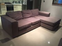 DFS L shape sofa & large storage foot stool