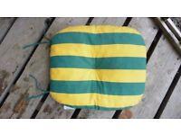 4 X Garden Furniture Green & Yellow Cushions