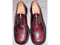 VINTAGE SAVILLE ROW MENS RUB-OFF BROWN SHOES/STYLE 699 -SIZE UK 7.5/EU 41 - BNWB