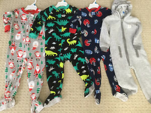 Carters Fleece Sleepers 24 Months