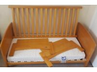 Winnie the Pooh pine cot bed including mattress