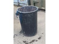 Black plastic bin