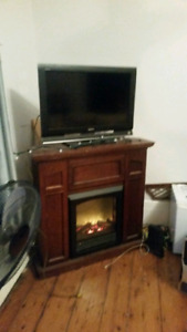 Electric Corner Fireplace / TV stand