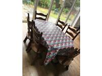 Table and 6 chairs solid wood