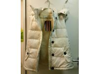 Jack Wills down feather filled faux fur trim gilet