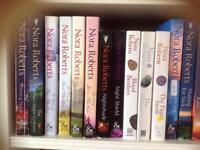 Thirty-two books by the author Nora Roberts.